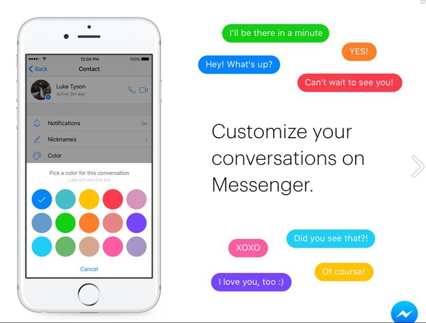 Puedes personalizar tus conversaciones en Facebook Messenger
