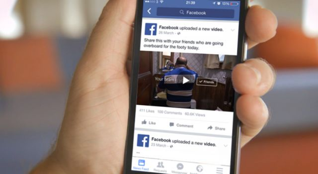 Facebook: Mostrará videos en formato vertical