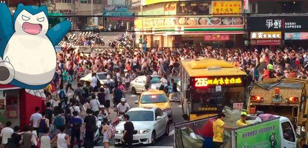 Aparición de un Snorlax provoca estampida en Taiwán