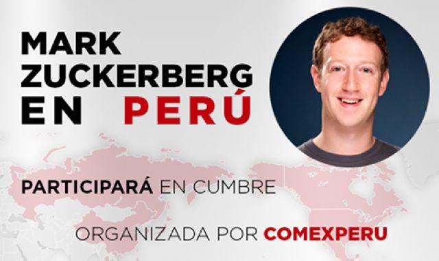 Mark Zuckerberg llegará a Lima para el foro APEC 2016