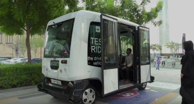 Dubai inicia prueba de coches de transporte público sin conductores