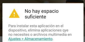 Google Play recomienda qué aplicaciones debes desinstalar si te falta espacio
