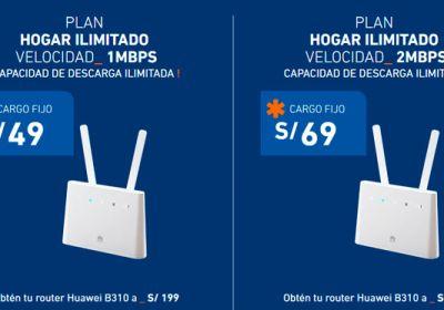 Entel lanza internet fijo ilimitado para hogar desde S/ 49